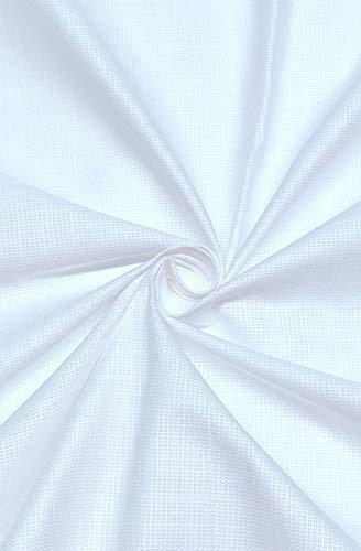 JHABAK'S SUBHDIN Premium Pure Cotton Linen Blend 2.25m Unstitched Shirt Fabric for Men (Pearl White, Free Size)