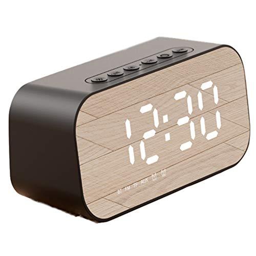 Despertador Digital, Pantalla De Espejo Led Reloj Alarma Inteligente Simple Y Con Pantalla De Fecha Y Temperatura Función Despertador, Función Snooze Y Luz Nocturna