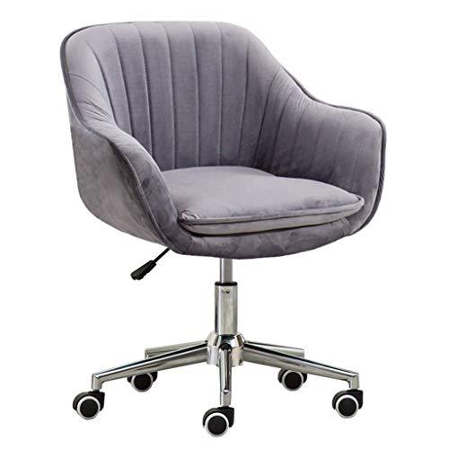 JIEER-C Ergonomische bureaustoel, bureaustoel, bureaustoel, draaistoel, computertafel thuis, studeerkamer, velours, modern, elastisch gevoerd, ergonomisch gevormd Metálico