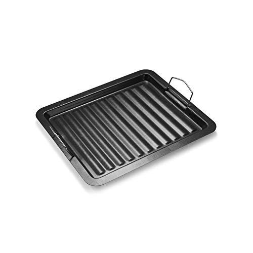 ZHANG Qrillplatte Backblech Quter Qualität Kuchenblech Herd Backofen für Feuerstelle, Grillplatz, Lagerfeuer, Gas- und Holzkohlegrills(S)