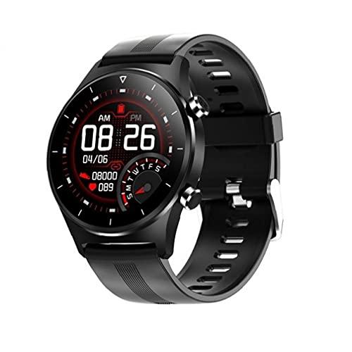 Smart Watch Runder Bildschirm Armbanduhr GPS Support Schrittzähler Smart Silikon Armband Schwarz Praxis Tragbares Werkzeug