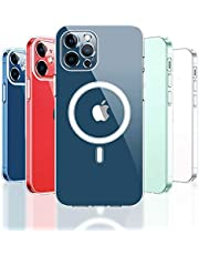 KIKET Crystal Clear Case Compatible with iPhone 12 MagSafe Charging, Designed for iPhone 12 Pro Case[Anti-Yellowing], Ultra Slim Anti-Fall Scratch Cover, Support Wireless Fast Charge