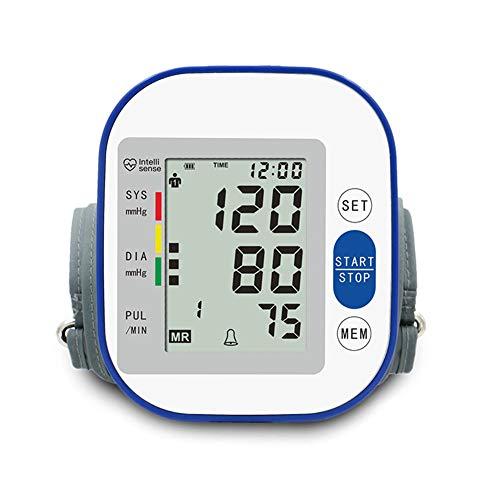 LTLGHY Voice Oberarm-Blutdruckmessgerät, Arrhythmie-Anzeige, WHO-Ampel-Farbskala, Für Präzise Blutdruckmessung Und Pulsmessung Mit Speicherfunktion Und Sprachausgabe