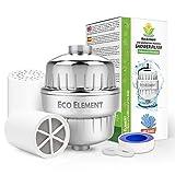 Eco Element 2nd Generacion Filtro de ducha mejorado. Elimina cloro, cloramina, flúor y productos químicos duros. Set completo de filtración de ducha. Configuración fácil. 100% reciclable.
