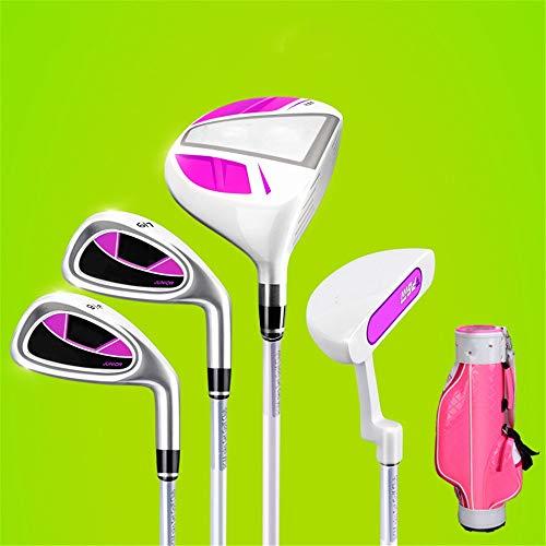 YAOSHIBIAN- Golf Putter Indoor e Outdoor Grip Golf Practice Club per 3-12 Anni Ragazzo e Ragazza con Sacca da Golf,...