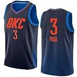 Rencai Chris Paul # Camiseta de Baloncesto de Calidad Multi-Estilo Nueva Tela Gran 3 Oklahoma City Thunder (Color : 2, Size : XS)