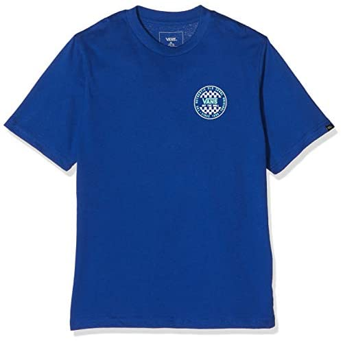 Vans Og Checker SS Boys T-Shirt, Blu (Sodalite Blue Rgj), Medium Bambino