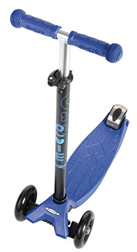 Micro Kickboard - Maxi Original 3-Wheeled, Lean-to-Steer, Swiss-Designed Micro Scooter for Kids, Ages 5-12, Blue