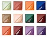 AMACO Velvet Semi-Translucent Underglaze Set 3, Assorted Color, Set of 12
