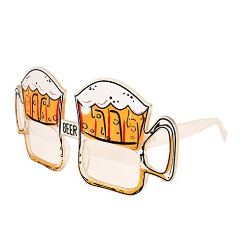BESTOYARD BESTOYARD Bier-Augenglas-Nacht-Party bevorzugt Eyewear-Zubehör Foto-Prop für Dress Party Supply