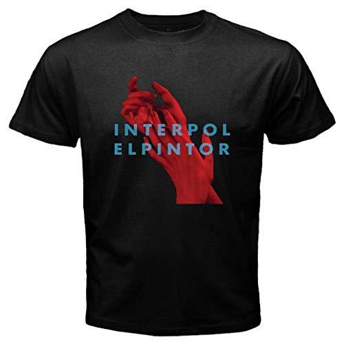 Nieuwe Interpol Elpintor Rock Band heren zwart T-Shirt Maat S tot 3XL *100% katoen