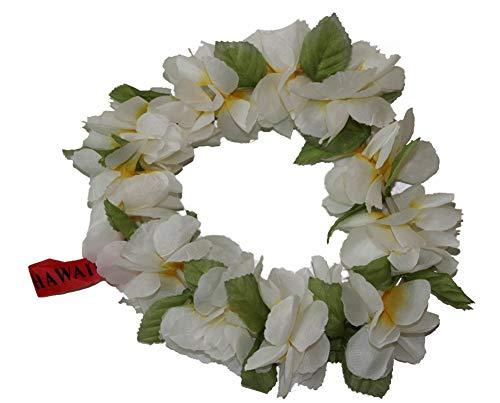 The Hawaii Elastic Headband-haku lei (White)