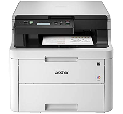Brother HL-L3290CDW Compact Digital Color Printer Providing Laser Printer Quality Results with Convenient Flatbed Copy & Scan, Wireless Printing and Duplex Printing