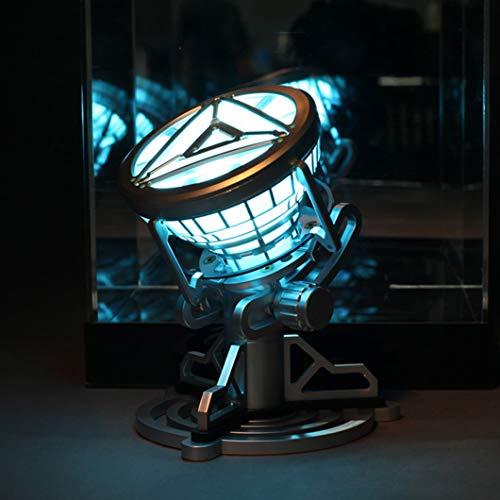 BLL Iron Man MK 6 ARC Reactor Cofre lámpara iluminada decoración, Tony corazón Modelo Juguet