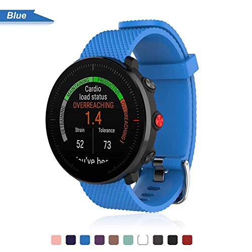 Bemodst Armband für Polar Vantage M Watch, Silikon Handgelenk Uhrenarmbänder Fitness Sport Ersatz Uhrband Wechselarmbänder für Polar Vantage M Smartwatch (Blau)
