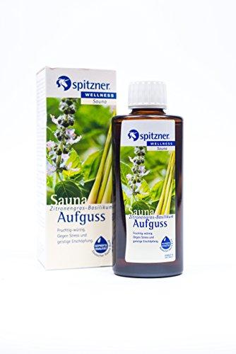 Spitzner saunaopgiet, wellness, citroengras, basilicum, 190 ml