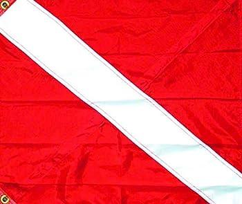 SeaSense Nylon Diver Down 3 Tier Flag 20-Inch x 24-Inch