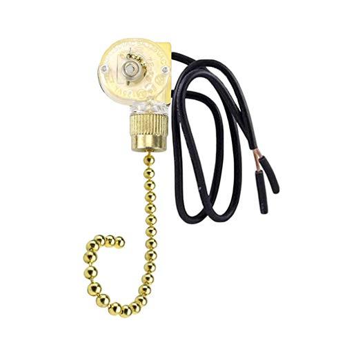 Hunter ZE-109 - Interruptor de ventilador de techo para lámparas de ventilador (cadena de latón)