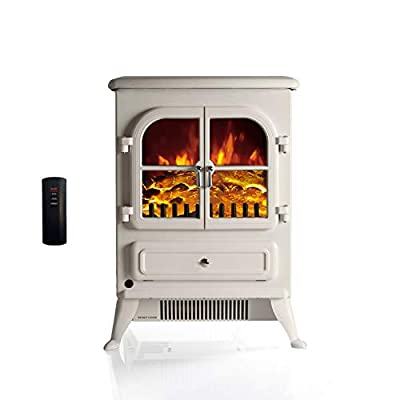 """Galleon Fires -""""Agena"""" Electric Stove with Remote Control - Realistic Flame Effect Stove - Portable - Electric Stove - Heater Electric Fire Place/Fireplace - with Real Log Flame Effect"""