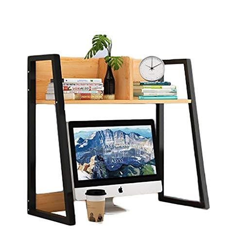 SMSJ-YJ Book Shelf Shelf Bedroom Storage, Wooden Bookcase Cubes Shelves, Free Standing Bookshelf Storage Unit,Computer Desk Hutch with Trapezoidal Structure (Color : B1)