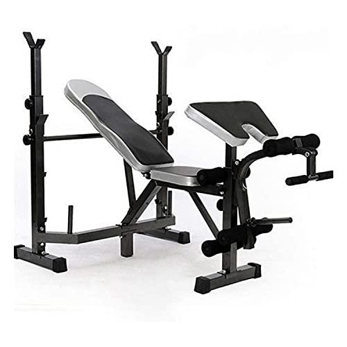 KZKR - Banco de musculación para sentadillas, banco multifuncional, sin mancuernas, equipo de entrenamiento para todo el cuerpo
