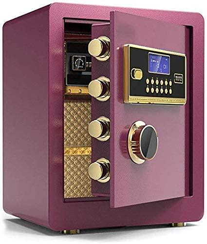 PIVFEDQX Caja Fuerte de Seguridad, Cajas Fuertes para el hogar Sistema electrónico antirrobo de 3 cajones - Caja Fuerte - Hucha 38 32 Caja Fuerte de 45 cm