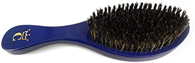 """Crown Quality Products Royal Blue -MEDIUM BRISTLE Contour Wave Brush - """"THE ORIGINAL"""" Curved Wave Brush - 360 Waves in Days"""