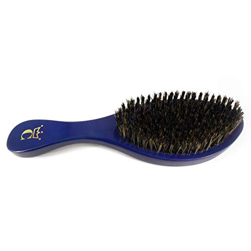 "Crown Quality Products Royal Blue -MEDIUM BRISTLE Contour Wave Brush - ""THE ORIGINAL"" Curved Wave Brush - 360 Waves in Days"