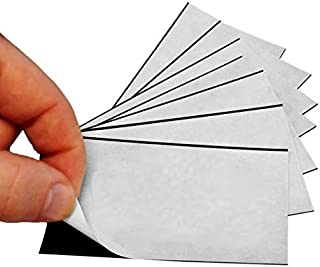 1 X 100 Adhesive Magnetic Business Card Magnets 20 mil Peel and Stick
