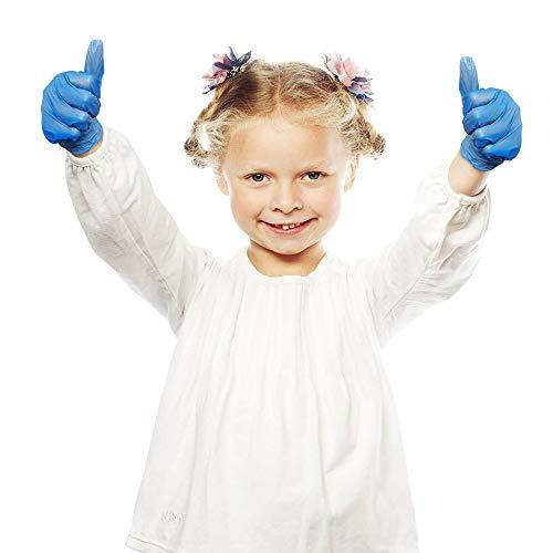 YH 20 Unids/Caja Guantes de látex Desechables para el hogar Nitrilo Espesado Antipolución Niños Guantes de tamaño pequeño para niños Niñas Pintura Artesanal