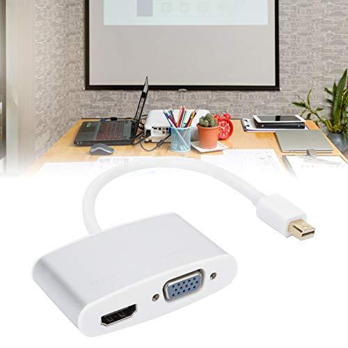 Convertidor de video, Adaptador DP de aleación de aluminio, Mini proyector resistente a caídas estable para monitor Pantalla LCD