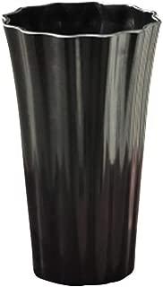 Vase Acrylic Plastic Flowerpot Flower Arrangement Imitation Ceramic Flower Dry Flower Simple Flower Dish (Color : Black)