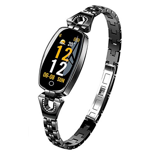 Oyznsb Smartwatch armband voor mannen vrouwen en meisjes sporttracker fitness waterdicht voor Android iOS mobiele telefoons, Zwart