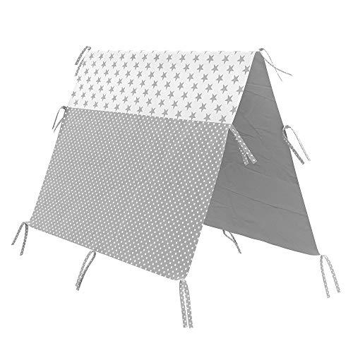 Vitalispa Überwurf Kinderbett Indianerzelt für Tipi Bett Zeltbett Zelt (80x160cm)