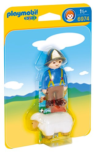 PLAYMOBIL 1.2.3- Shepherd with Sheep Figura Accesorios