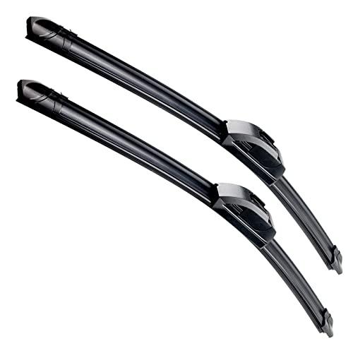 VTOGOI OEM Quality 22''+22'' Premium All-Season Auto Windshield Natural Rubber J-Hook Wiper Blades(Pack of 2)