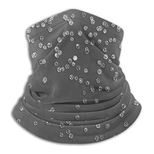 air kong Moderne graue und Faux Silberne Glitzer Konfetti Kopfbedeckung Halsmanschette Wärmer Winter Skiröhrchen Schal Maske Fleece Gesichtsschutz Winddicht