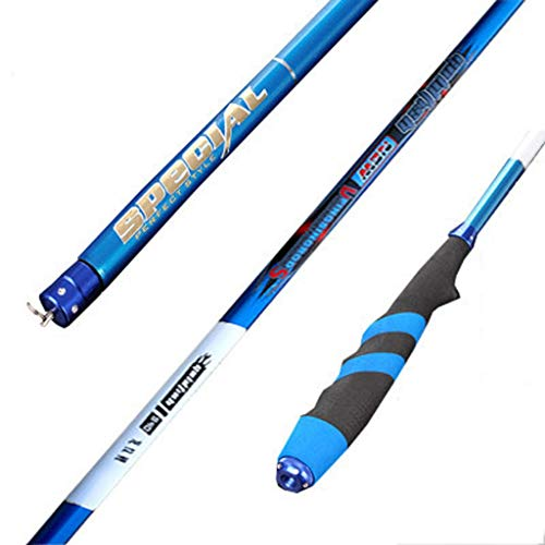 NYKK Angelruten-Kit Carp Rod Carbon-Super Light Super Hard Taiwan Angelrute Langer Abschnitt Angelausrüstung Angelbedarf Angelrute Angelruten- und Rollen-Combos (Size : 4.5meters)