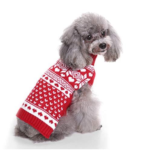 PET CLOTHES Ropa para Mascotas, Ropa Abrigo Suéter para Mascotas Cachorro Perro Camisetas para Pequeño Perros Accesorios Ropa Suéter Invierno Mascotas Gatos Ropa,H,M