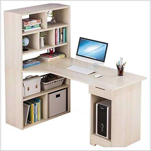 Lesbye Desk and Bookcase Integrated Multifunctional Student Writing Desk