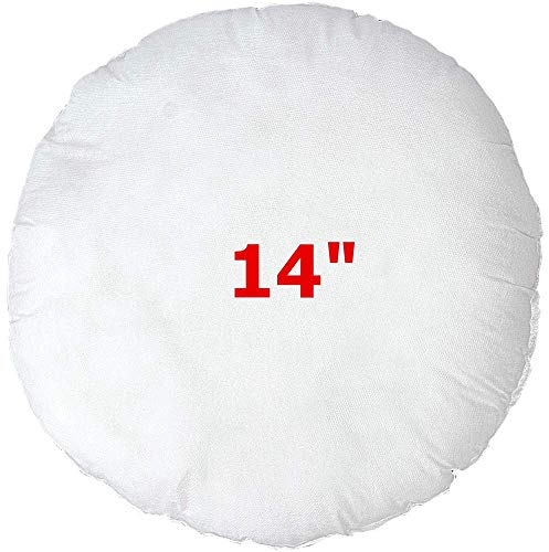 Cheer Textiles Round Circular Pillows Cushions Filler Scatter Inners Pad Insert 12' 14' 16' 18' 20' 30cm 35cm 40cm 45cm 50cm (14'(35cm))