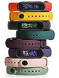 Pulseira para Mi Band 6 Xiaomi Kit com 8 unidades + Película de brinde
