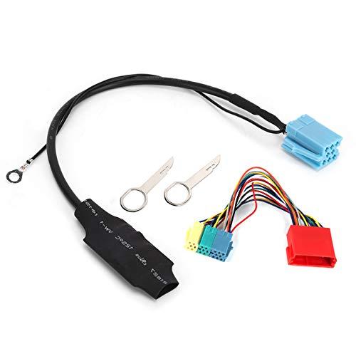 Conector estéreo para coche, 20pin/8pin Bluetooth 5.0 o adaptador de radio conector estéreo para coche compatible con A2 A3 8L 8P TT
