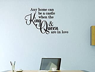 Design with Vinyl Moti 1632 1 Any Home Can Be A Castle When The King & Queen are in Love Fairy Tale Prince Princess Peel & Stick Wall Sticker Decal, 10
