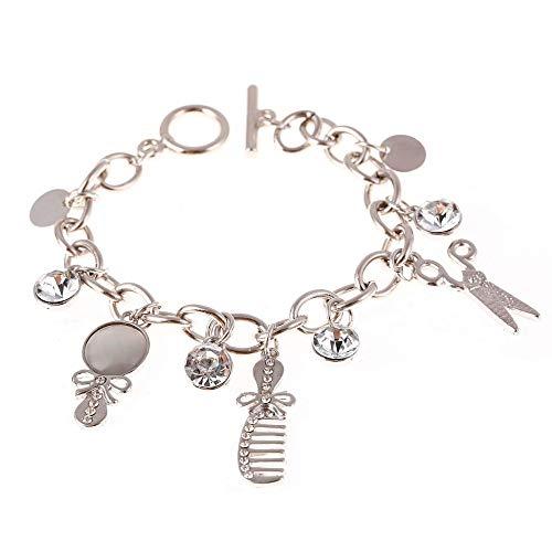 KHOBGLU Damen Armband Mode Charme Schere Kämme Armbänder Frauen Silber Farbe Armreifen Schmuck Exquisites Vielseitiges Armband Für Frauen