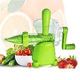 COOLSHOPY Exprimidor manual de hierba de trigo, col, espinacas, perejil, fruta y cualquier otro verde hoja (color: verde, tamaño: tamaño libre)