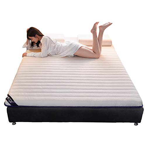 BCBIG Bedding - Colchón de látex natural de 10 cm, diseño plegable, higroscópico y transpirable,...