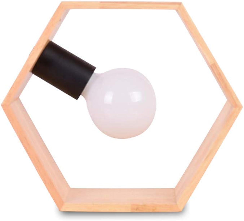 YU-K Minimalistischen modernen Schlafzimmer Nachttischlampe warmen hlzernen Schreibtisch Wohnzimmer personalisierte kreative dekorative Lampen, 26  23 CM, Schalter