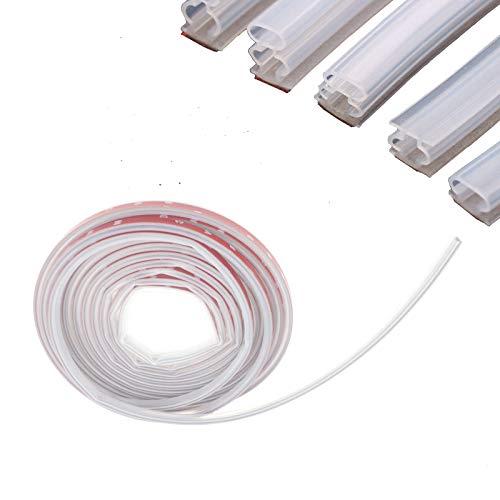 各種サイズ厳選 ANMIO 高密度シリコーン素材 半透明 隙間テープ ドア すきま風防止 防音パッキン 引き戸 窓 扉 玄関用すきまテープ 虫塵すき間侵入防止シールテープ エアコン効率アップ 6M(長さ)x10mm(幅)x6mm(厚さ)