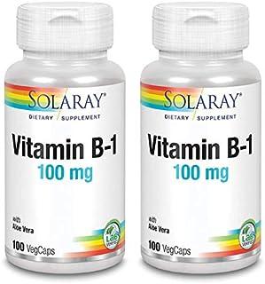 Vitamina B1 suplemento. 100mg - 100 comp. (Pack 2 u.)
